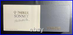 Parker Sonnet Fougere Sterling Silver Set- Fountain Pen And Roller Ball