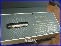 Parker Sonnet Sterling Silver Cisele Fountain Pen 18k Fine Nib New In Box