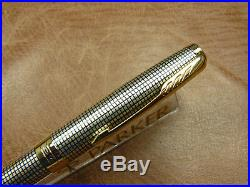 Parker Sonnet Sterling Silver Cisele Twist Action Ballpoint Pen Brand New In Box