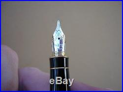 Parker Sonnet Sterling Silver Fountain Pen 18k Gold Medium Point With Gift Box