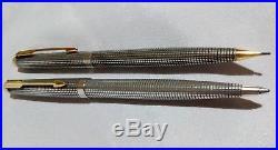 Parker Sterling Silver Cap & Barrel Rollerball Pen & Pencil Set