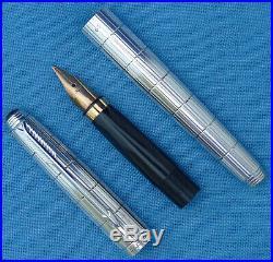 Parker Sterling Silver Place Vendôme 75 Damier fountain pen, beautiful