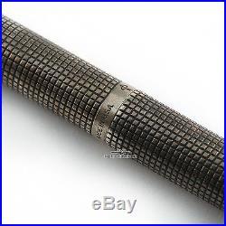 Parker Vintage 75 Flattop Sterling Silver Cisele Fountain Pen c. 1960's Rare