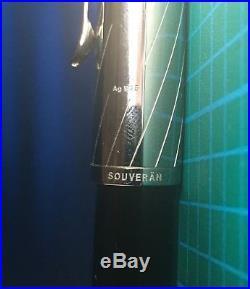 Pelikan 600 M625 sterling silver and semi-transparent Aubergine F fountain pen