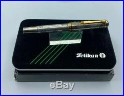Pelikan M800 Fountain Pen Sterling Silver EROTIC ART by Ariel Kullock NEW