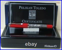 Pelikan Special Edition M910 Toledo Red With Silver Plated Finish Fountain Pen