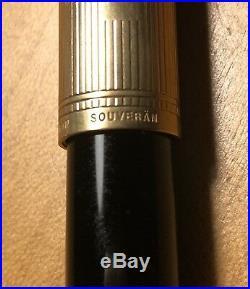 Pelikan Vintage Souveran Fountain Pen With Sterling Silver Vermeil Cap, M Nib