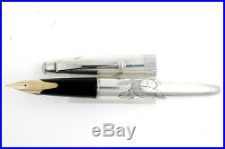 Pilot NAMIKI Sterling Silver Crane Fountain Pen With Medium Flexible Nib