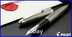 Pilot SILVERN (Sterling Silver) 18K Fountain Pen Lattice Fine Nib FK-5MS-KO-F