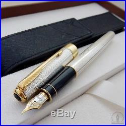Pre Launch Parker Sonnet Fougere Sterling Silver GT Fountain Pen France Q4 1993