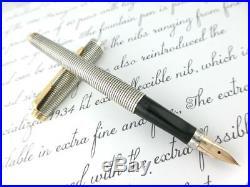 RARE CISELE! PARKER 75 Fountain Pen STERLING-Silver 925 x Converter USA
