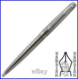 RARE Parker 75 Ambassador Sterling Silver Cap &Barrel Ballpoint Pen Line Pattern