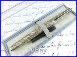 RARE! STERLING-SILVER 925 PILOT NAMIKI 18K-WHITE GOLD Nib Fountain Pen
