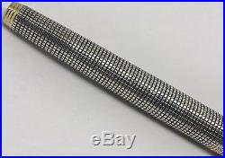 Rare Amazing Vintage Parker 75 Flat Top Sterling Silver- Cisele Fountain Pen