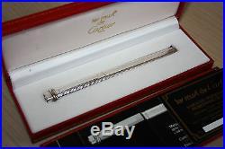 Rare CARTIER VENDOME Sterling Silver Ballpoint Pen, Box, Hallmarked 925