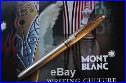 Rare MONTBLANC SOLTAIRE 144 Sterling silver fountain pen NICE 14K BB nib