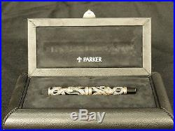 Rare Parker Snake 1997 Limited Edition Sterling Silver Fountain Pen