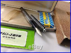 Rare Pilot Custom Sterling Silver FP White 18k-W. G Fine H377 Brand. NEW BOX+Paper
