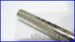 Rare! Sheaffer Sterling Silver Fountain Pen, Full Flex 14k Fine Nib, USA