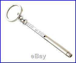 Rare Vintage Tiffany & Co. 925 Sterling Silver ballpoint pen/ Key chain ring
