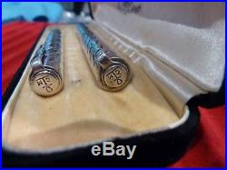 Rare Waterman Sterling Silver Lady Patricia Set Cable Twist