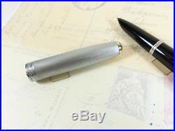 Restored 1944 Black PArker 51 Vacumatic Sterling Silver Cap Fountain Pen