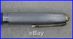 Restored 1945 Parker 51 Dove Gray Fountain Pen, Sterling Silver Cap