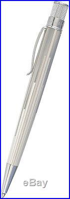 Retro 51 Sterling Tornado Slim Ballpoint Pen. 925 Sterling Silver Deco Tower