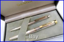 SHEAFFER TARGA 1024X STERLING SILVER 2nd EDITION FOUNTAIN PEN & BALLPOINT PEN