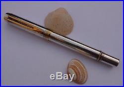 STERLING SILVER WATERMAN MAN 100 fountain pen solid gold nib 750 18K