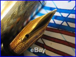 SWAN Sterling Silver Easy FLex 14k Gold Nib Ring Top Fountain Pen vtg Mabie Todd