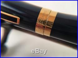 S. T. Dupont. 925 Sterling Silver Navy Blue Enamel Fountain Pen 18kt M Nib In Box