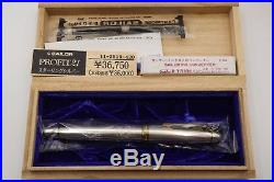 Sailor 1911 Sterling Silver GORGEOUS Fountain Pen 21K M Nib with Box/Papers