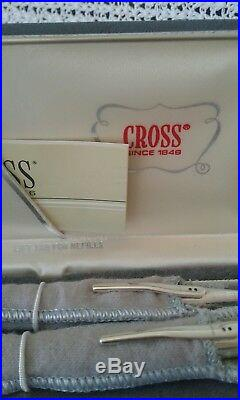 Set of 2 CROSS STERLING SILVER 925 Pencil And Soft Tip Pen +2 Original Refills