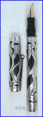 Sheaffer, 3 Self-filling, sterling filigree, semi flex nib
