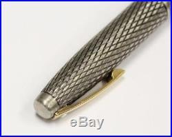 Sheaffer Imperial Fountain Pen Sterling Silver Diamond Pattern 14K Gold Nib USA