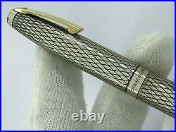 Sheaffer Imperial U. S. A Fountain Pen Sterling Silver 925 Nib Gold 14k