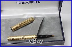 Sheaffer NOSTALGIA Rollerball Pen 925 Sterling Silver VERMEIL Overlay NOS NEW