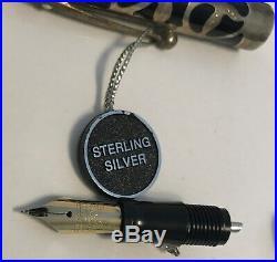 Sheaffer Nostalgia. 925 Sterling Silver Overlay 18K Gold Nib Fountain Pen
