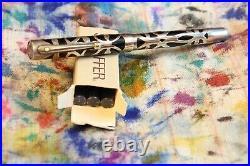 Sheaffer Nostalgia Fountain Pen Sterling Silver Overlay C/C Fill Original Box