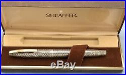 Sheaffer Sterling Silver Imperial Diamond 14k Gold Nib Fountain Pen