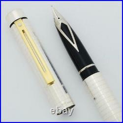 Sheaffer TARGA 1006X Fountain Pen Sterling, GT, Med Steel Nib (New Old Stock)