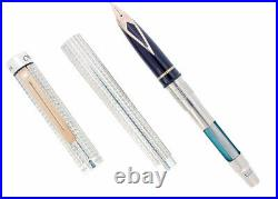 Sheaffer Targa Cp1 Limited Edition 220/250 Sterling Silver Fountain Pen Mint Nos