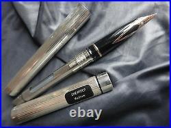 Sheaffer Targa Sterling Silver Fountain Pen 14K Gold Med Pt New In Box Usa