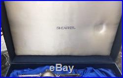 Sheaffer Targa Sterling Silver Fountain Pen Desk Set