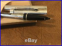 Sheaffer Targa fountain pen 14k nib Imperial Sterling Silver N. O. S. In Box. U. S. A