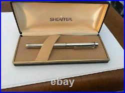 Sheaffer Targa fountain pen sterling silver. Imperial 14k nib. Vintage. N. O. S