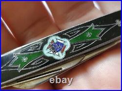Sterling & Guilloche Enamel Knights of Columbus Pocket Knife Antique Rare