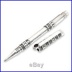 Sterling Silver Ballpoint Pen Garnet Accent'Pillar of Tradition' NOVICA Bali