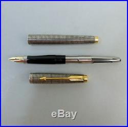 Sterling Silver Paker 75 Cisele Fine Nib Fountain Pen